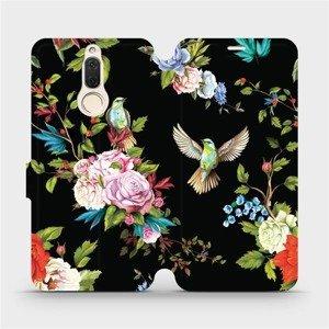 Flipové pouzdro Mobiwear na mobil Huawei Mate 10 Lite - VD09S Ptáčci a květy