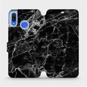 Flipové pouzdro Mobiwear na mobil Huawei Nova 3 - V056P Černý mramor