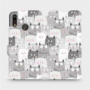 Flipové pouzdro Mobiwear na mobil Huawei P Smart 2019 - M099P Kočičky