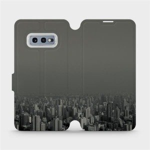 Flipové pouzdro Mobiwear na mobil Samsung Galaxy S10e - V063P Město v šedém hávu