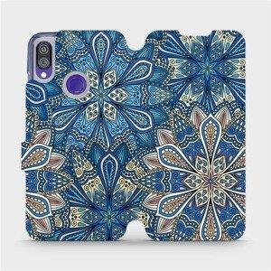 Flipové pouzdro Mobiwear na mobil Xiaomi Redmi Note 7 - V108P Modré mandala květy