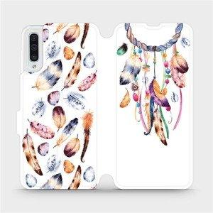 Flipové pouzdro Mobiwear na mobil Samsung Galaxy A50 - M003S Lapač a barevná pírka