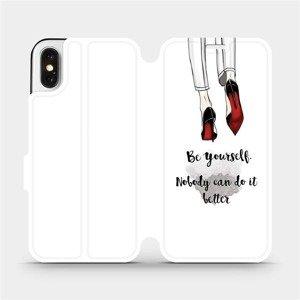 Flipové pouzdro Mobiwear na mobil Apple iPhone X - M046P Be yourself