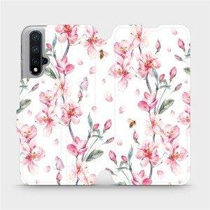 Flipové pouzdro Mobiwear na mobil Honor 20 - M124S Růžové květy