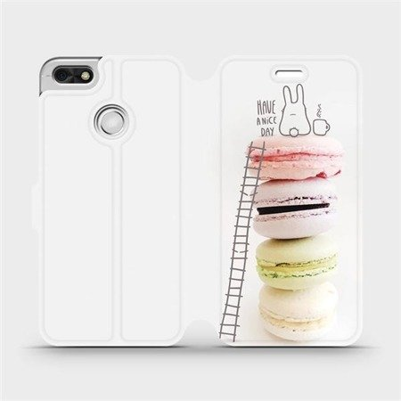 Flipové pouzdro Mobiwear na mobil Huawei P9 Lite mini - M090P Makronky - have a nice day