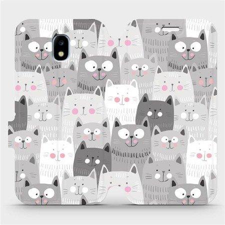 Flipové pouzdro Mobiwear na mobil Samsung Galaxy J3 2017 - M099P Kočičky