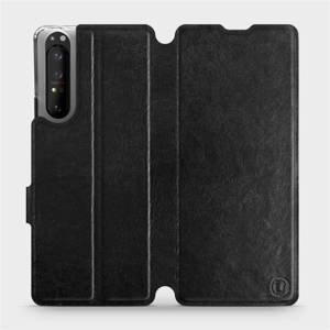 Flipové pouzdro Mobiwear na mobil Sony Xperia 1 II v provedení C_BLS Black&Gray s šedým vnitřkem