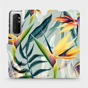 Flipové pouzdro Mobiwear na mobil Xiaomi Mi Note 10 Lite - MC02S Žluté velké květy a zelené listy