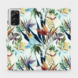 Flipové pouzdro Mobiwear na mobil Samsung Galaxy Note 20 - M071P Flóra