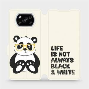 Flipové pouzdro Mobiwear na mobil Xiaomi POCO X3 NFC - M041S Panda - life is not always black and white