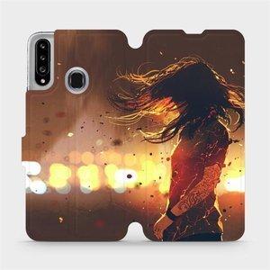 Flipové pouzdro Mobiwear na mobil Samsung Galaxy A20S - MA02S Tetovaná dívka