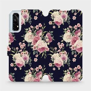 Flipové pouzdro Mobiwear na mobil Realme 7 - V068P Růžičky