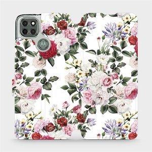 Flipové pouzdro Mobiwear na mobil Motorola Moto G9 Power - MD01S Růže na bílé