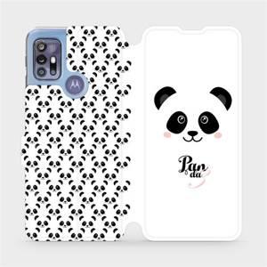 Flipové pouzdro Mobiwear na mobil Motorola Moto G30 - M030P Panda Amálka