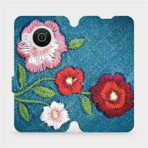 Flip pouzdro Mobiwear na mobil Nokia X10 - MD05P Džínové květy