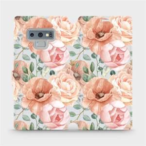 Flip pouzdro Mobiwear na mobil Samsung Galaxy Note 9 - MP02S Pastelové květy
