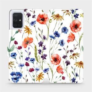 Flip pouzdro Mobiwear na mobil Samsung Galaxy A71 - MP04S Luční kvítí