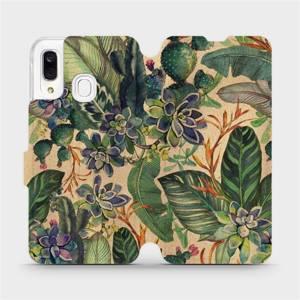 Flip pouzdro Mobiwear na mobil Samsung Galaxy A40 - VP05S Sukulenty