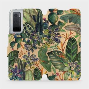 Flip pouzdro Mobiwear na mobil Vivo Y70 - VP05S Sukulenty