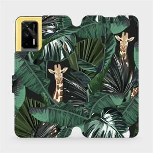 Flip pouzdro Mobiwear na mobil Realme GT 5G - VP06P Žirafky