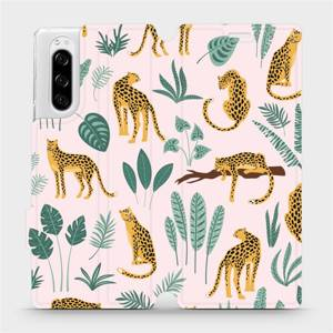 Flip pouzdro Mobiwear na mobil Sony Xperia 5 - MP07S Leopardi