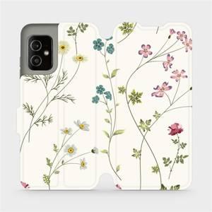 Flip pouzdro Mobiwear na mobil Asus Zenfone 8 - MD03S Tenké rostlinky s květy