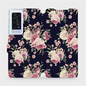 Flip pouzdro Mobiwear na mobil Vivo X60 Pro 5G - V068P Růžičky