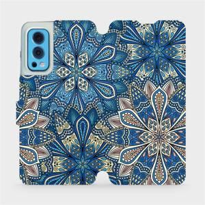 Flip pouzdro Mobiwear na mobil OnePlus Nord 2 5G - V108P Modré mandala květy