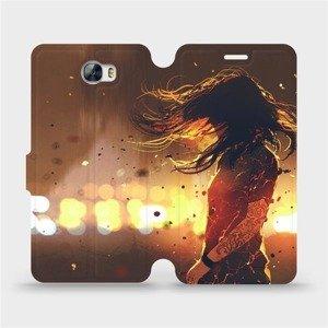 Flipové pouzdro Mobiwear na mobil Huawei Y5 II - MA02S Tetovaná dívka