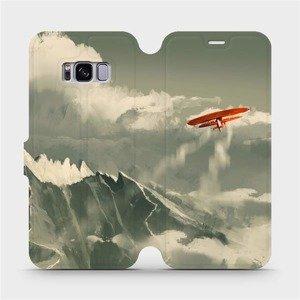 Flipové pouzdro Mobiwear na mobil Samsung Galaxy S8 - MA03P Oranžové letadlo v horách