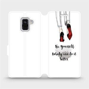 Flipové pouzdro Mobiwear na mobil Samsung Galaxy A8 2018 - M046P Be yourself
