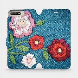 Flipové pouzdro Mobiwear na mobil Huawei Y6 Prime 2018 - MD05P Džínové květy