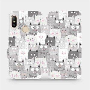 Flipové pouzdro Mobiwear na mobil Xiaomi Mi A2 Lite - M099P Kočičky