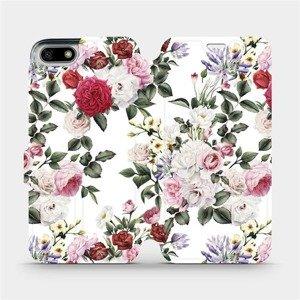 Flipové pouzdro Mobiwear na mobil Honor 7S - MD01S Růže na bílé