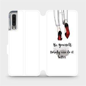 Flipové pouzdro Mobiwear na mobil Samsung Galaxy A7 2018 - M046P Be yourself