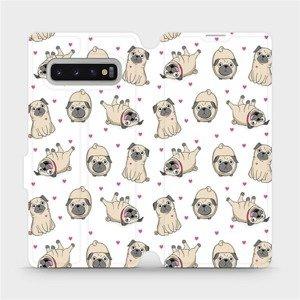Flipové pouzdro Mobiwear na mobil Samsung Galaxy S10 Plus - M097P Mopsíci