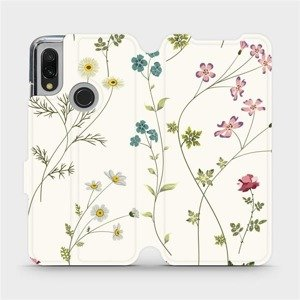 Flipové pouzdro Mobiwear na mobil Xiaomi Redmi 7 - MD03S Tenké rostlinky s květy