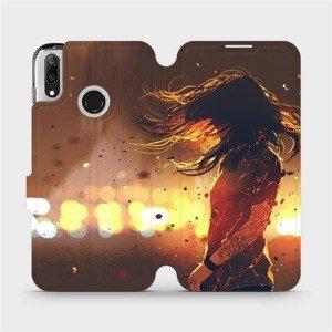 Flipové pouzdro Mobiwear na mobil Huawei Y7 2019 - MA02S Tetovaná dívka