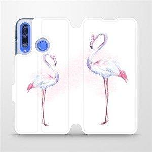 Flipové pouzdro Mobiwear na mobil Honor 20 Lite - M005S Plameňáci