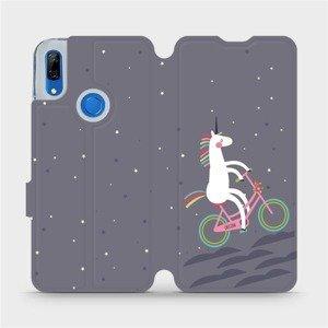Flipové pouzdro Mobiwear na mobil Huawei P Smart Z - V024P Jednorožec na kole