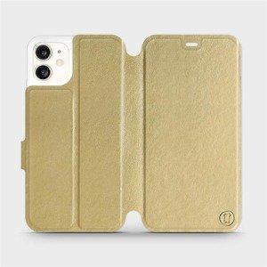 Flipové pouzdro Mobiwear na mobil Apple iPhone 11 v provedení C_GOS Gold&Gray s šedým vnitřkem
