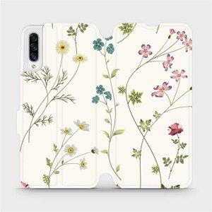 Flipové pouzdro Mobiwear na mobil Samsung Galaxy A30s - MD03S Tenké rostlinky s květy