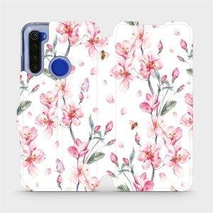 Flipové pouzdro Mobiwear na mobil Xiaomi Redmi Note 8T - M124S Růžové květy
