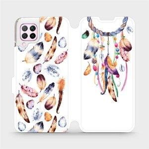 Flipové pouzdro Mobiwear na mobil Huawei P40 Lite - M003S Lapač a barevná pírka
