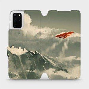 Flipové pouzdro Mobiwear na mobil Samsung Galaxy S20 Plus - MA03P Oranžové letadlo v horách