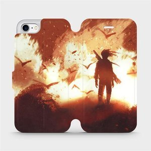 Flipové pouzdro Mobiwear na mobil Apple iPhone SE 2020 - MA06S Postava v ohni