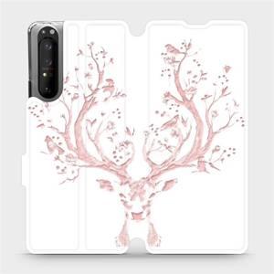Flipové pouzdro Mobiwear na mobil Sony Xperia 1 II - M007S Růžový jelínek
