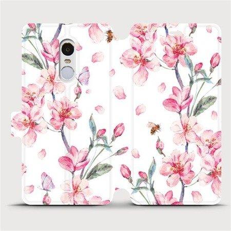 Flipové pouzdro Mobiwear na mobil Xiaomi Redmi Note 4 Global - M124S Růžové květy
