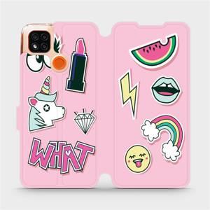 Flipové pouzdro Mobiwear na mobil Xiaomi Redmi 9C - M129S Růžové WHAT