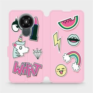 Flipové pouzdro Mobiwear na mobil Nokia 3.4 - M129S Růžové WHAT
